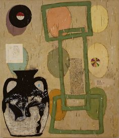 Have You, 1998  Oil and alkyd on canvas over panel by Squeak Carnwath