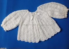 CR015 Wedges and Shells Round Yoke Crocheted Baby Sweater