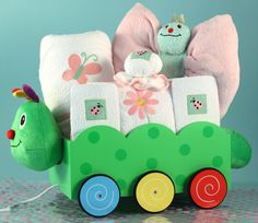 Springtime Girl Baby Wagon Can be personalized