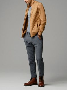 COTTON TROUSERS WITH LEATHER DETAILING - Massimo Dutti
