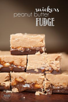 Snickers Peanut Butter Fudge - Self Proclaimed Foodie