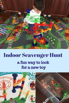 Let the kids discover a new building toy in a fun way. This is an indoor version of scavenger hunt game. Scavenger Hunt Games, Building Toys, New Toys, Kids Toys, Indoor, Children, Fun, Childhood Toys, Interior