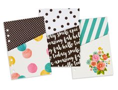 Carpe Diem Planner Pocket Insert Folders - Planner Accessories