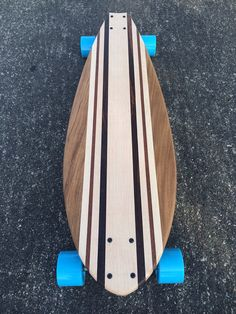 LONGBOARD Made from Four Exotic Woods Barefoot by croozerboards