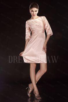 Beautiful 3/4-length Sleeves Knee-length Scoop Olga's Mother Of The Bride Dress: Dressbraw.com