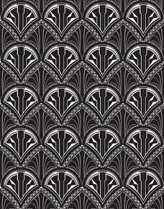 Art deco pattern by LairyCanary