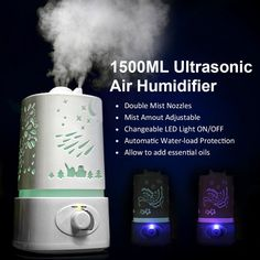 Nebulizer Air Ultrasonic Humidifier LED Lamp Oil Aroma Diffuser Fogger Mist Maker Aromatherapy Diffuser Air Cleaner Vaporizer #Affiliate