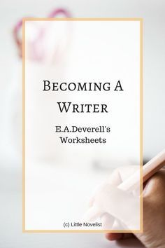 Using writing worksheets for blog post inspiration | Little Novelist