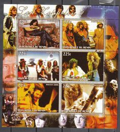 Led Zeppelin Stamp Sheet 2006