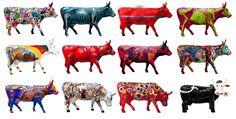 CowParade - näitä vois olla enemmänkin! Eat More Chicken, Milk Brands, Cow Parade, Musk Ox, Cow Creamer, Cow Art, Visual Diary, Animal Paintings, Cattle