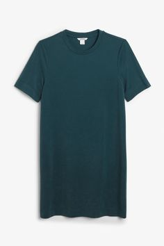 Super-soft t-shirt dress - Deep forest green - Dresses - Monki Forest Green Dresses, Orange T Shirts, Tumblr Outfits, Orange Dress, Green Shirt, Monki, Colored Jeans, Women's Fashion Dresses, Cool Outfits