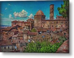 Etruscan Center Metal Print by Hanny Heim.  All metal prints are professionally printed, packaged, and shipped within 3 - 4 business days and delivered ready-to-hang on your wall. Choose from multiple sizes and mounting options.
