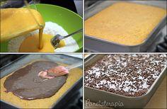 PANELATERAPIA - Blog de Culinária, Gastronomia e Receitas: Bolo de Cenoura com Brigadeiro