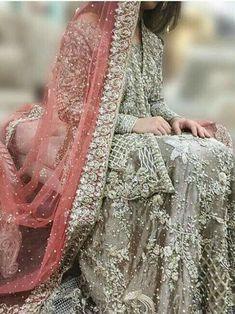 Wedding Lehenga for Indian Bride. Asian Wedding Dress, Pakistani Wedding Outfits, Pakistani Wedding Dresses, Bridal Outfits, Indian Dresses, Indian Outfits, Saris, Walima Dress, Bridal Dress Design