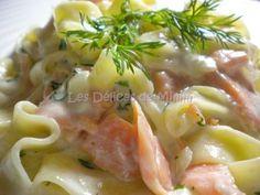 Pâtes au saumon fumé et crème fraîche | Ptit Chef