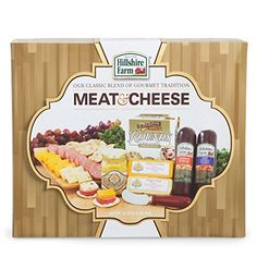 Perfect gift basket for the meat and cheese lover Filled with gourmet meats, cheeses, crackers and mustard Comes in a beautiful gift box that can be wrapped Gourmet Gifts, Food Gifts, Gourmet Recipes, Gourmet Cheese, Meat And Cheese, Cheese Spread, Hillshire Farms Sausage, Toasted Crackers, Hickory Farms