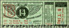 Five Indianapolis 500 1915-1930 unused paper replica Indy