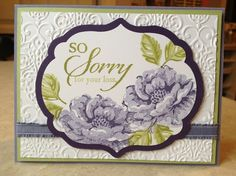 stampin up stippled blossoms | Stampin Up Only / Catherine Loves Stamps: Stippled Blossoms & So Sorry ...