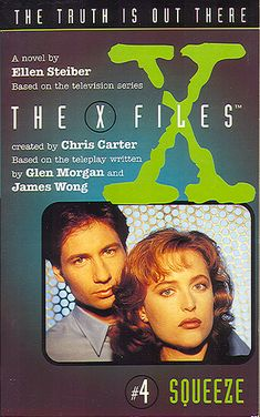Squeeze X-Files #4 HarperCollins/Voyager 1997 102 pages  From the back cover: Four Dead, One to Go  FBI agents Fox Mulder and Dana Scully are tracking a serial killer, and all the evidence points to the impossible: a killer who can squeeze through an air duct or slide down a chimney. A killer who has never left a trace - except for a fingerprint ten inches long. A killer who has struck down five victims every thirty years - since 1903. Mulder and Scully don't know how this monster of...