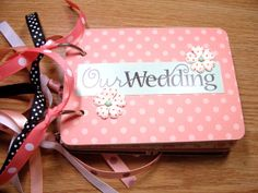Our Wedding Premade Mini Scrapbook Album Our by HampshireRose, $30.00