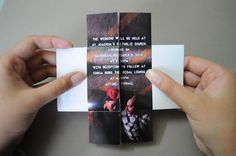 A 'puzzling' wedding invite by Jessa. An interactive wedding invitation in printed form.