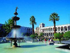 Arequipa, Ciudad Blanca. Arequipa  Cidade Branca, A Cidade do Eterno Céu Azul, Peru