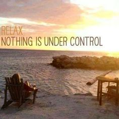 Relax. Nothing is under control. Funny quote.