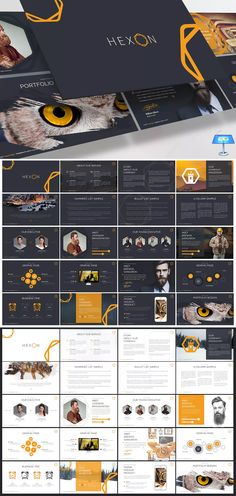 Hexon Keynote Template by inspirasign on Envato Elements Company Profile Presentation, Keynote Presentation, Interactive Presentation, Design Presentation, Presentation Templates, Presentation Folder, Presentation Slides, Business Presentation, Booklet Template