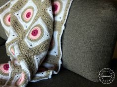 GRANNY SQUARE BLANKET crochet blanket, made with super value yarn