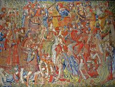 The Virtue of Chastity, Brussels 1520  Saint Petersabbey, Ghent, Exhibition Flemish Tapestries for the Dukes of Burgundy.