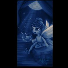 Water Lily #fairy #waterlily #moon #digitalart