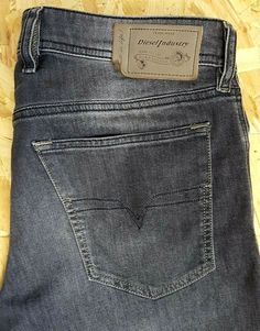 63ed72a2 DIESEL WAYKEE MENS JEANS W32 L30 WASHED BLACK GREY BUTTON FLY STRAIGHT  #fashion #clothing