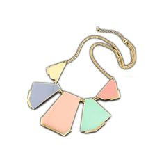 Colorblock Statement Necklace ❤ liked on Polyvore