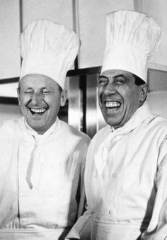 Two French talents of the cinema : Bourvil and Fernandel - they had a catching laughter together
