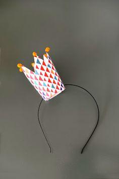 Paper cup crown headband | Estéfi Machado