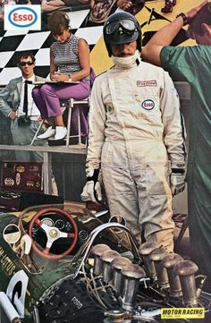 Silverstone 1967.. Graham Hill, first met him when I was six years old! at Silverstone 1966, he's my real hero!