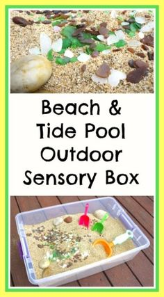 Beach and Tide Pool Outdoor Sensory Box. My two littlest ones would dearly love digging in a box like this.