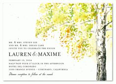 For Ever: Tree wedding invitations are our speciality