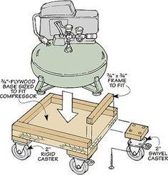 Woodworking Tip: Air Compressor Cart