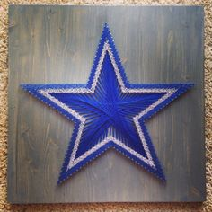 String Art Sports Logo Dallas Cowboys FREE by ThingsStringed, I would change it to a regular star. Lol