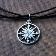 7b88cf4bb00 Compass Rose Necklace - Compass Rose Pendant - Sterling Silver Necklace -  Direction Necklace - Graduation Necklace - Everyday Necklace