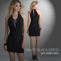 Camille La Vie short black dress for homecoming. the sexy must have LBD fashion look