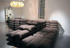 Military Sandbag Bunker Comfy Couch