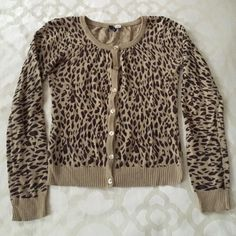 H&M leopard cardigan Lightweight leopard print cardigan Divided Sweaters Cardigans