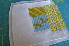 Great way to Quilt as You Go (QAYG) by Elizabeth Hartman at Oh Fransson!