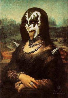 Mona Lisa versión Kiss.