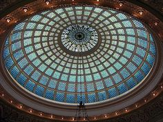 Tiffany Glass Dome, Chicago Cultural Center, Chicago (former main building of the Chicago Public Library) Largest tiffany dome in the world-picture does not do it justice