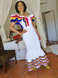 I luv this African Bridesmaid Dresses, African Wedding Dress, African Print Dresses, African Print Fashion, African Fashion Dresses, African Dress, Setswana Traditional Dresses, Pedi Traditional Attire, African Traditional Wear