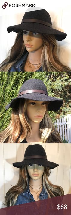 J CREW FEDORA NWT NWT   J Crew charcoal gray, soft wool felt, size Small/Medium with a leather strap around it. It can be shaped to what is comfortable for you.  No Low Offers please J. Crew Accessories Hats