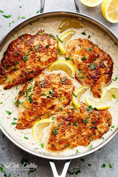 The traditional Chicken Francese with a CREAMY TWIST is BETTER than anything you'll find in a restaurant! A family winner at the dinner table!